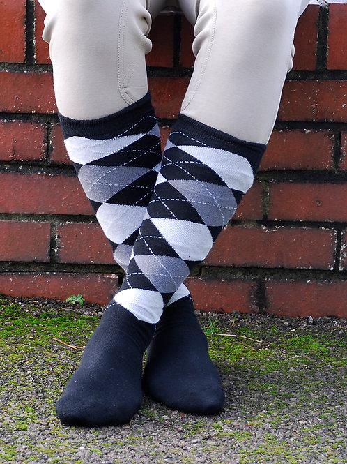 Rhinegold Cushioned Sole Mens Long Riding Socks