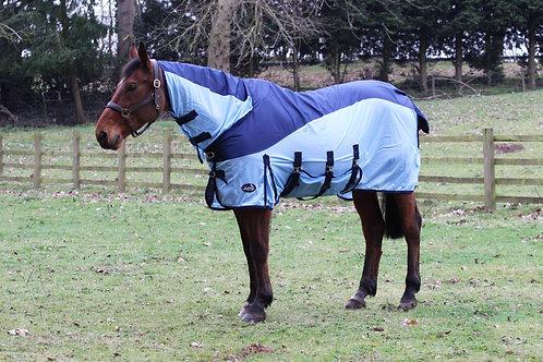 Jump Equestrian Hybrid Turnout Waterproof Fly Rug Blue
