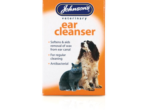 Johnsons Veterinary Ear Cleanser Dogs & Cats 18ml Pets Ear Cleaner Antibacterial