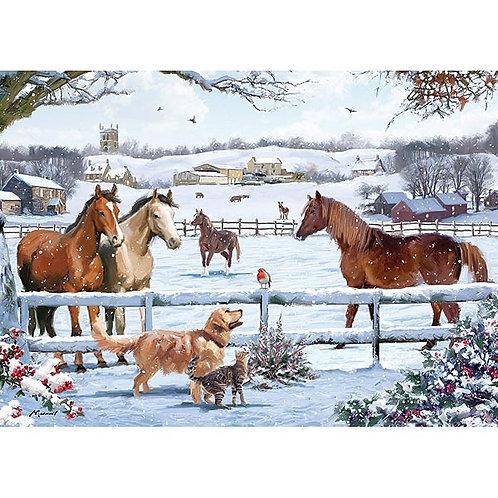 Christmas On The Farm Jigsaw - 1000 Piece