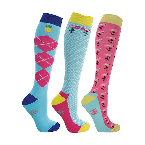 HyFashion Flamingo Socks - Pack Of 3