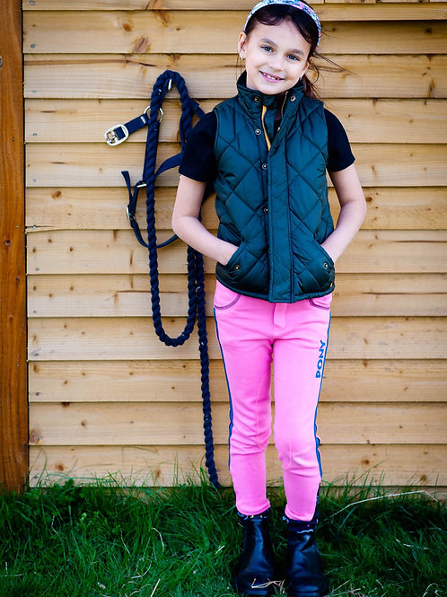 Gallop Equestrian Childrens Pink Pony Breeches