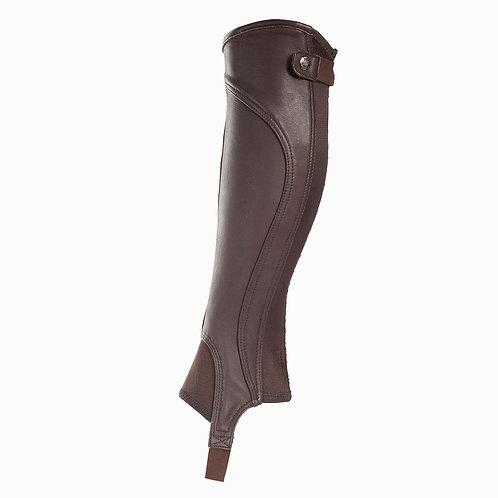 Horze Quinton Leather Half Chaps Brown