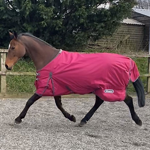 John Whitaker Whitworth Lightweight 50g Turnout Rug - Raspberry
