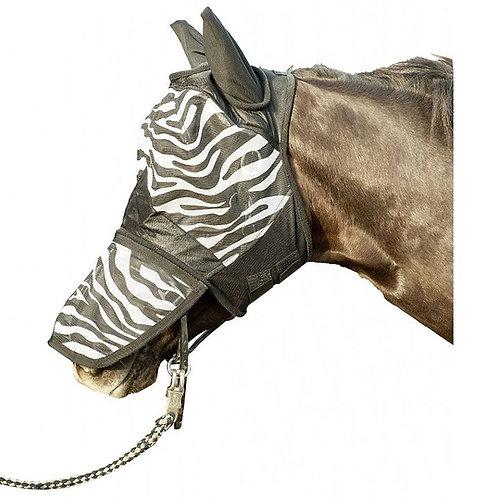 HKM Full Face Zebra Print Fly Mask