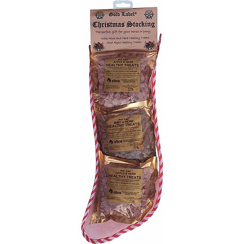 Gold label Christmas Stocking