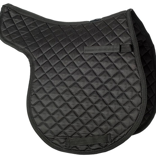 Gallop Equestrian Cotton Quilted Numnah Black