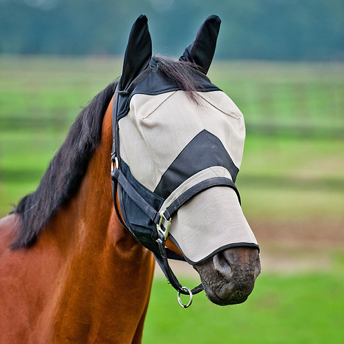 Horze Full face Fly Mask With Nose Cover