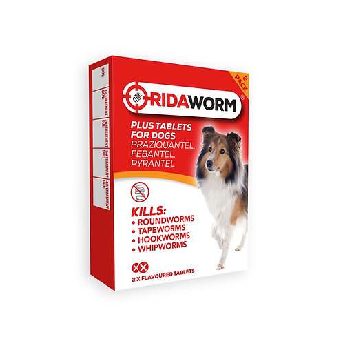 RIDAWORM Dog Tablets - 2 Pack