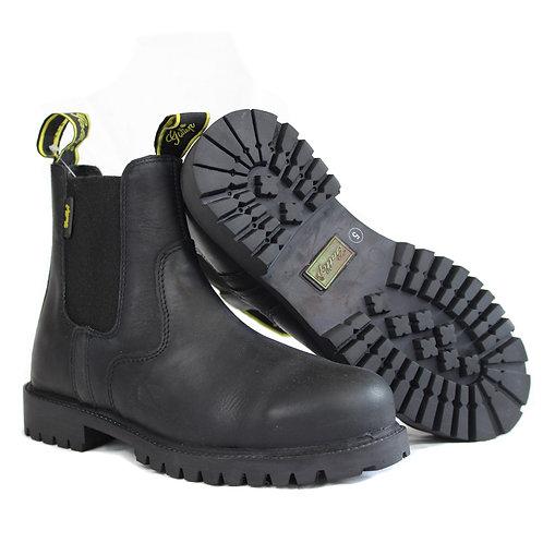 Gallop Steel Toe Yard Jodhpur Boots Black