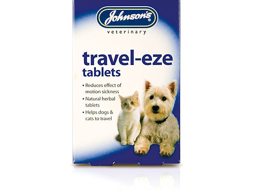 Johnsons Veterinary Travel-Eze Travel Sickness Tablets For Cats And Dogs x 24 tab