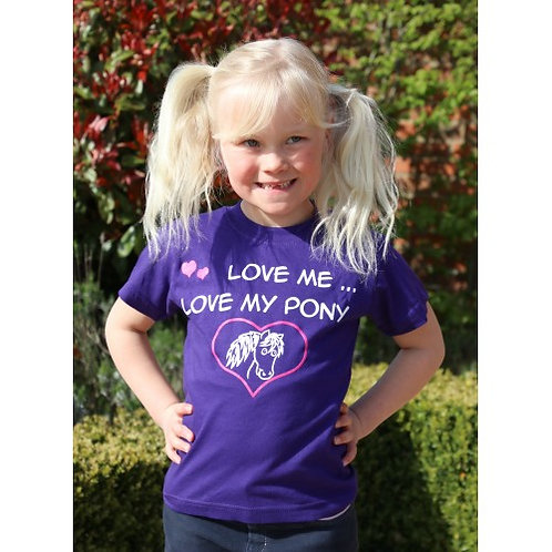 """LOVE ME LOVE MY PONY"" Kids Slogan T-shirt"