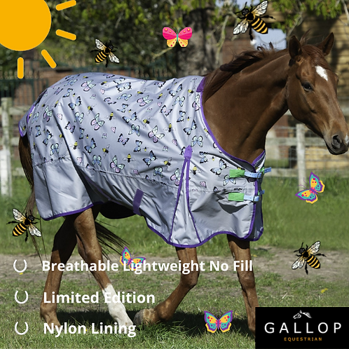Bees & Butterflies No Fill Turnout Rug