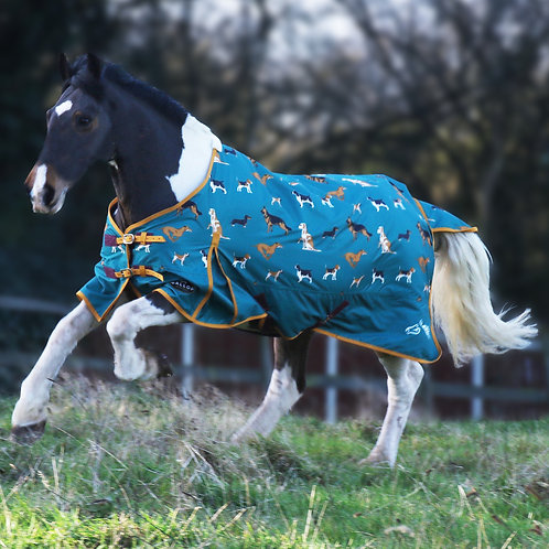 Gallop Equestrian Dogs Print 100g Turnout Rug