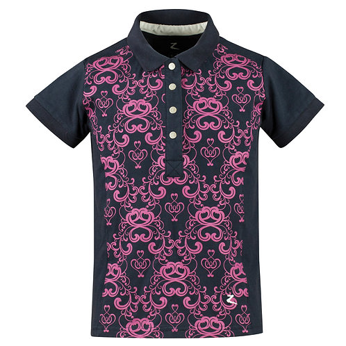 Horze Natalie Stretch Print Polo Shirt