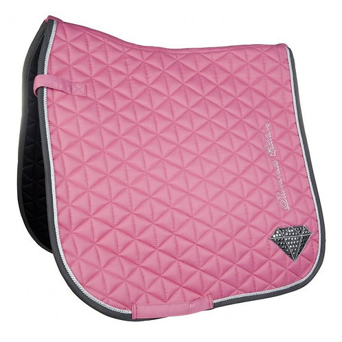HKM Saddle Cloth Diamonds Pink Star