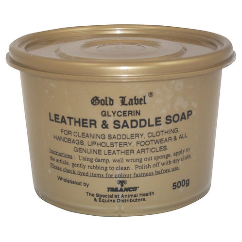 Gold Label Glycerin Leather & Saddle Soap - 500g