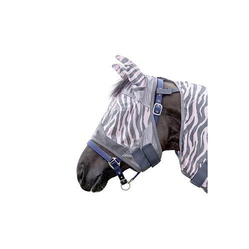 HKM Rose Zebra Fly Mask