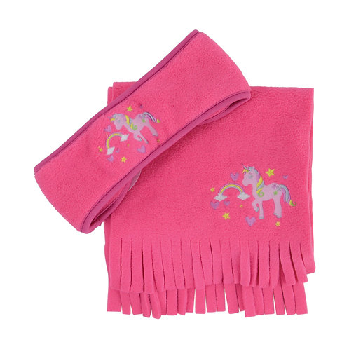 Hy Little Rider Headband and Scarf Set Pink