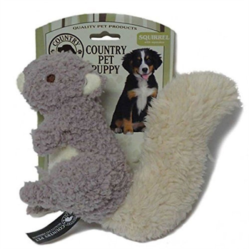 Country Pet Puppy Toy Squirrel With Squeaker Dog Pet Play Comforter