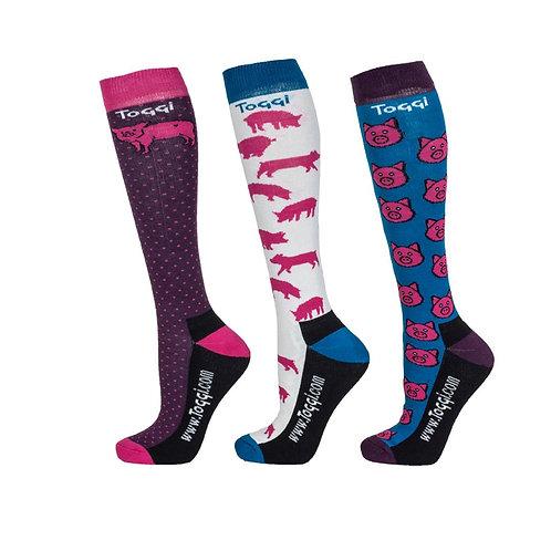 Toggi Lanehead Piggy Socks - Pack of 3