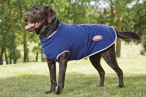 Weatherbeeta Zipped Fleece Dog Coat Navy/Red/White