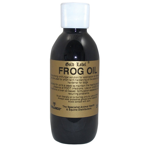 Gold Label Frog Oil 250ml - www.nelsonsequestrian.co.uk