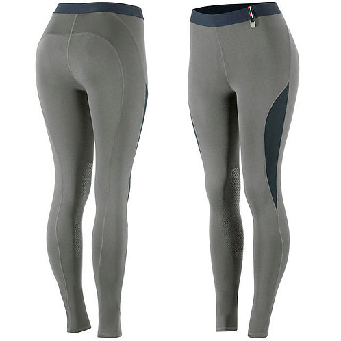 Horze Serena KP Silicone Riding Tights Steel Grey