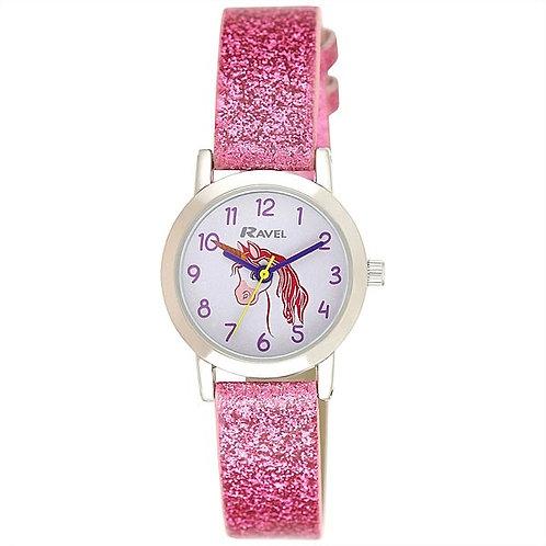 Ravel Girls Sparkle Glitter Unicorn Watch
