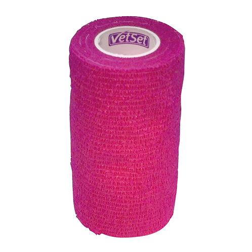 Vetset Wraptec Cohesive Bandage - Pink