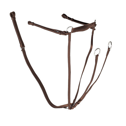 Leather Breastplate with Martingale Attachment