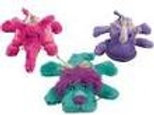 Kong Cozie Brights Dogs Toy Assorted Colours Puppy Soft Play Squeaker Plush