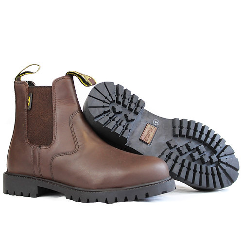 Gallop Steel Toe Yard Jodhpur Boots Brown