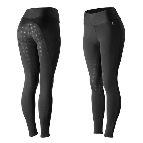 Horze Womens Juliet Hyper Flex Full Seat Riding Tights With Silicone Seat