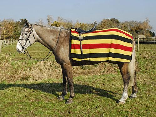 Rhinegold Fleece Striped Cutaway Ride-on Rug