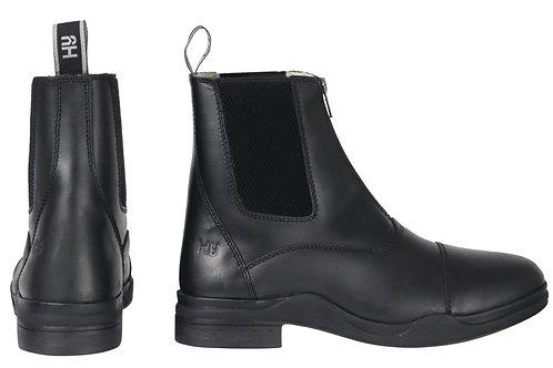 HY Fleece Lined Wax Leather Zip Winter Jodhpur Boot