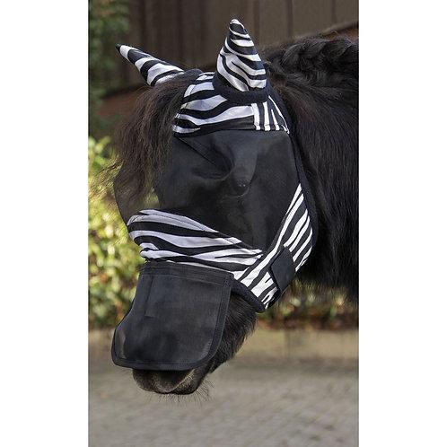 HKM Zebra Fly Mask Shetland Pony