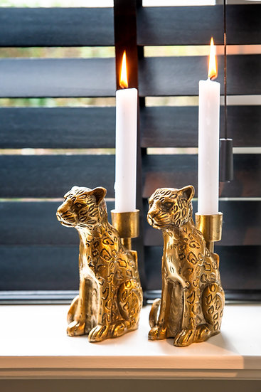 Kerzenhalter Leopard