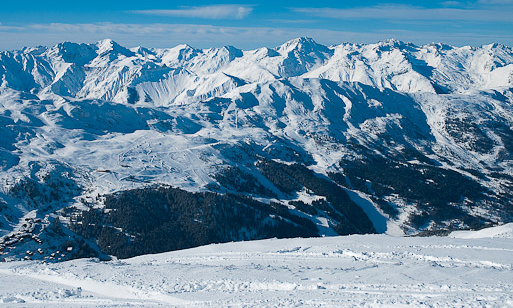 View of the slopes