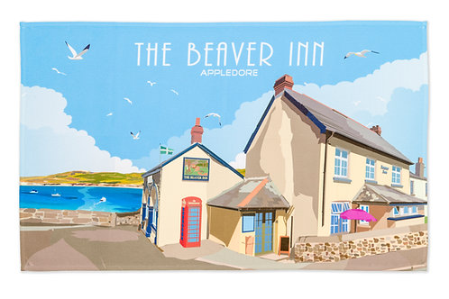 Beaver Inn Tea Towel