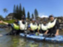 Happy Snorkelers on Kauai