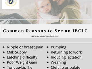 Common Reasons to See an IBCLC