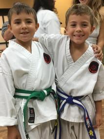 Two karate friends