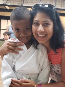 karate mom child