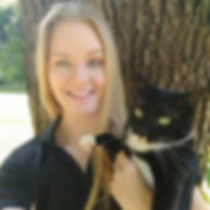 A pet sitter, Emily, and her beloved cat, Nyx!