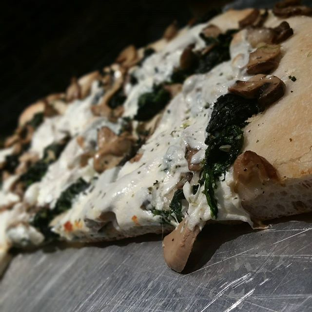 Bet you've never tried one of these before: spinach, mushroom, and m