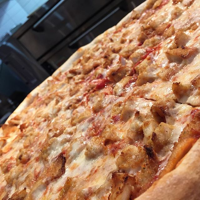 Which slice will catch your attention today? Topped with chicken cut