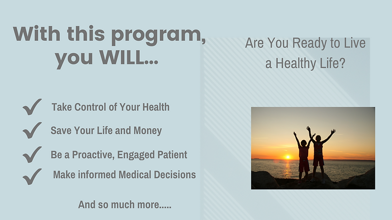 Take Control of your health, online courses, hughes advocacy