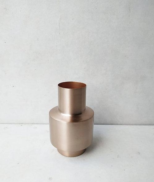 MD031a - Rose Gold Modern Metal Bud Vase