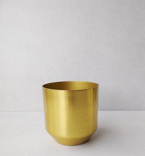 MD039b - Scandi style gold metal pot small